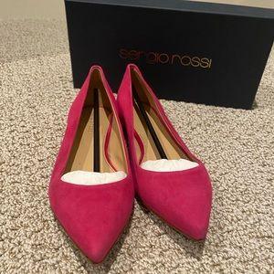 Sergio Rossi Pink Flats
